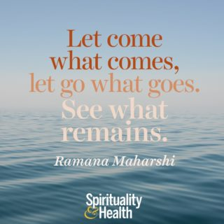 Ramana Maharshi on what always is - Let come what comes let go what goes See what remains