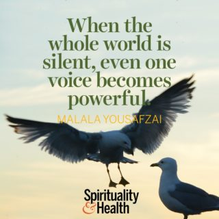 Malala Yousafzai - When the whole world is silent even one voice becomes powerful