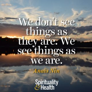Anaïs Nin on perception - We dont see things as they are we see things as we are