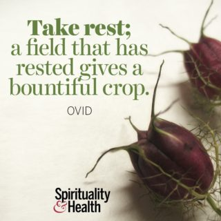 Ovid on caring for your mind and body. - Take rest; a field that has rested gives a bountiful crop.