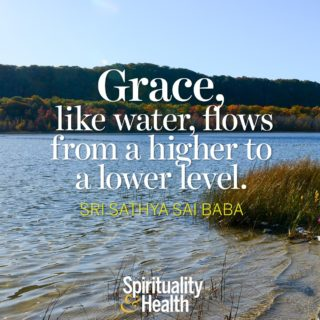 Sri Sathya Sai Baba on grace - Grace like water flows from a higher level to a lower level