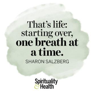 Sharon Salzberg on starting over - That's life: starting over, one breath at a time. - Sharon Salzberg