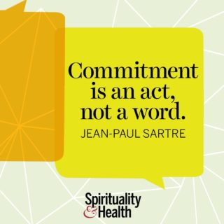 Jean-Paul Sartre on commitment - Commitment is an act not a word