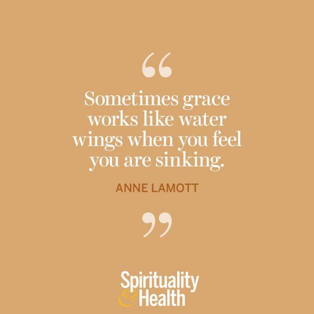 Anne Lamott on grace.