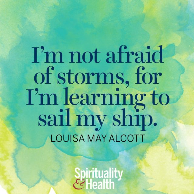 Louisa May Alcott on resilience.