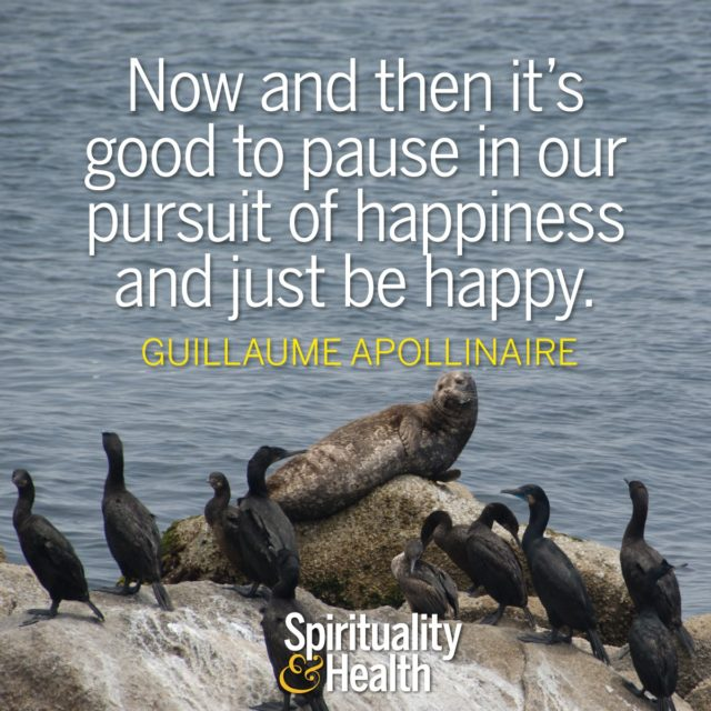 Guillaume Apollinaire on happiness and the present moment