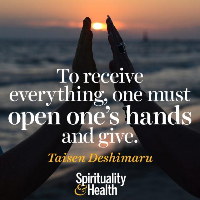 Taisen Deshimaru on selfless giving and abundance