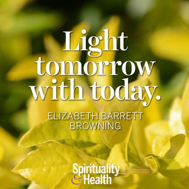 Elizabeth Barrett Browning on positivity