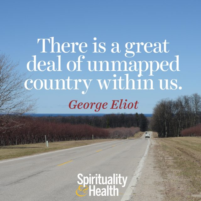 George Eliot on the landscape within