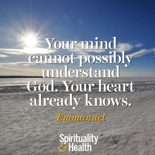 Emmanuel on understanding God.