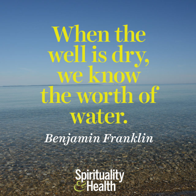 Benjamin Franklin on scarcity and worth.