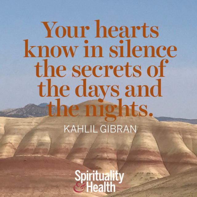 Kahlil Gibran on inner knowing