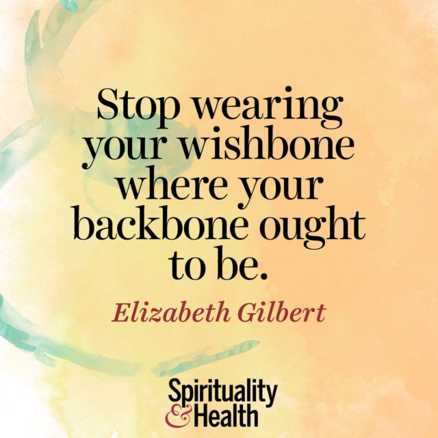 Elizabeth Gilbert on realism and grit