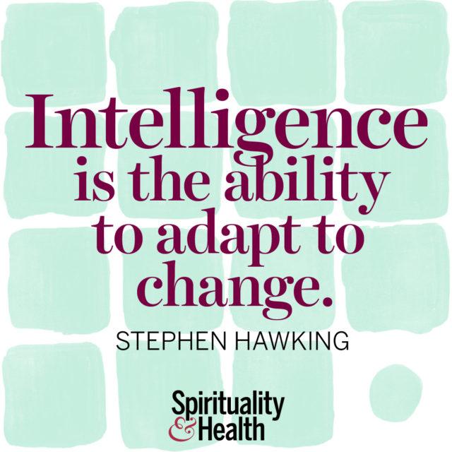 Stephen Hawking on true intelligence