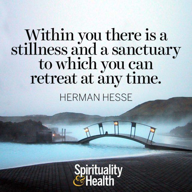 Herman Hesse on inner strength.