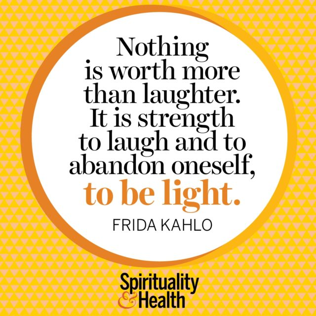 Frida Kahlo on lightness