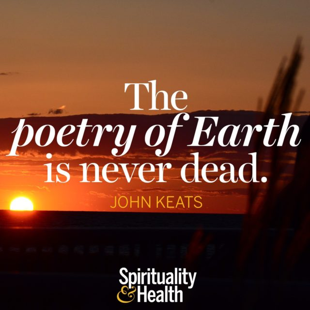 John Keats on Mother Nature's beauty