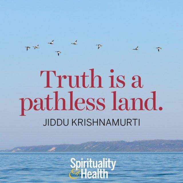 Jiddu Krishnamurti on truth