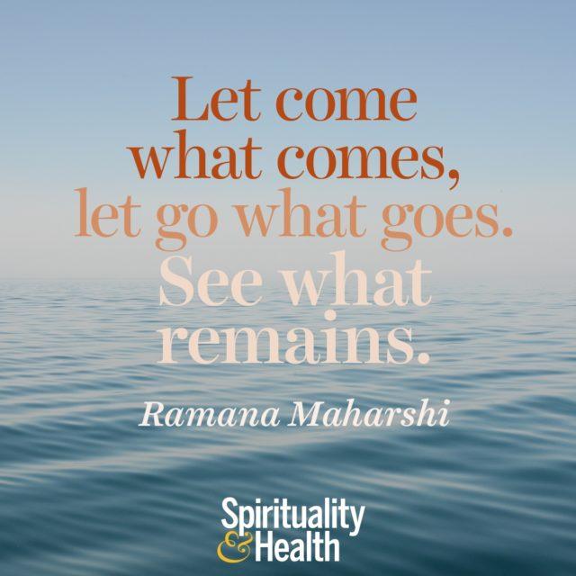 Ramana Maharshi on what always is