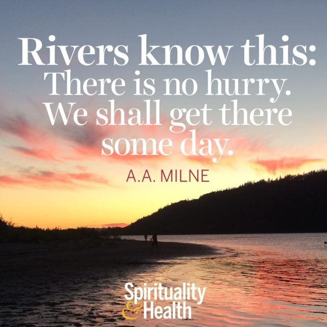 A. A. Milne on patience.