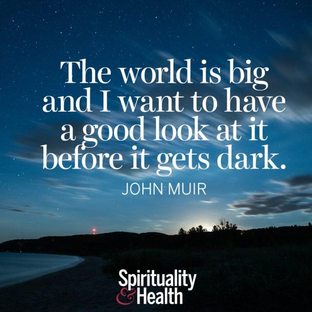 John Muir on exploration