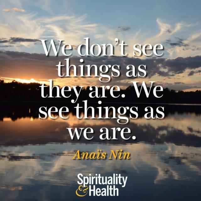 Anaïs Nin on perception