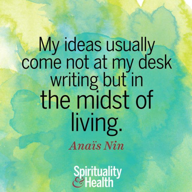 Anaïs Nin on creativity
