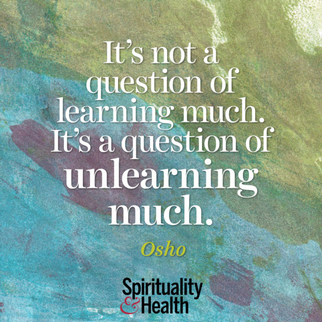 Osho on the process of becoming.
