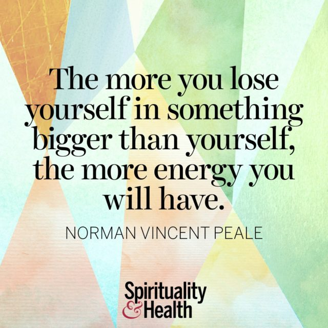 Norman Vincent Peale on finding life in service.