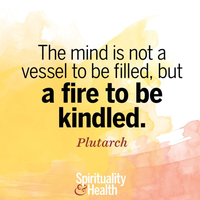 Plutarch on tending the fire within