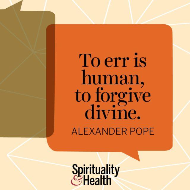 Alexander Pope on forgiveness