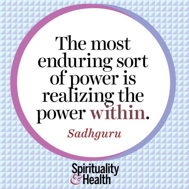 Sadhguru on the power within
