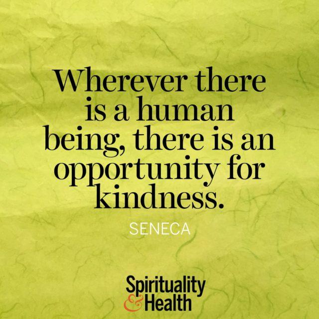 Seneca on being kind