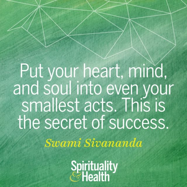 Swami Sivananda on integrity and success