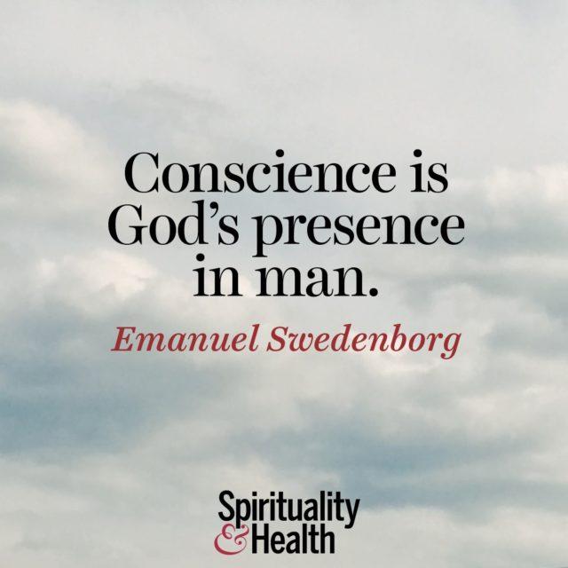 Emanuel Swedenborg on conscience.