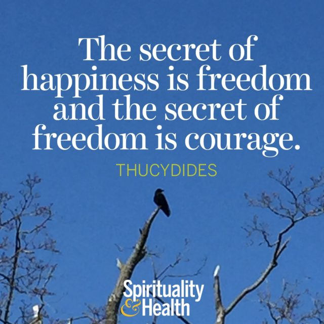 Thucydides on life's secrets to happiness and freedom