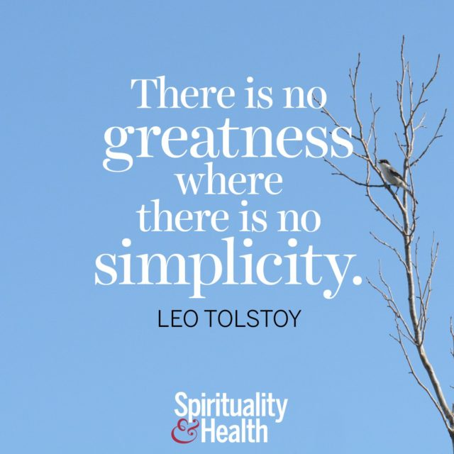 Leo Tolstoy on simplicity