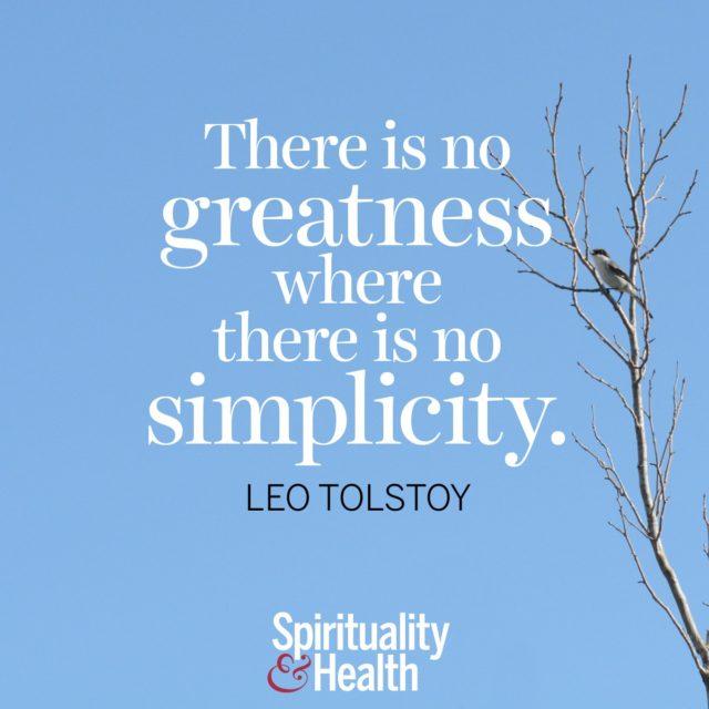 Leo Tolstoy on simplicity