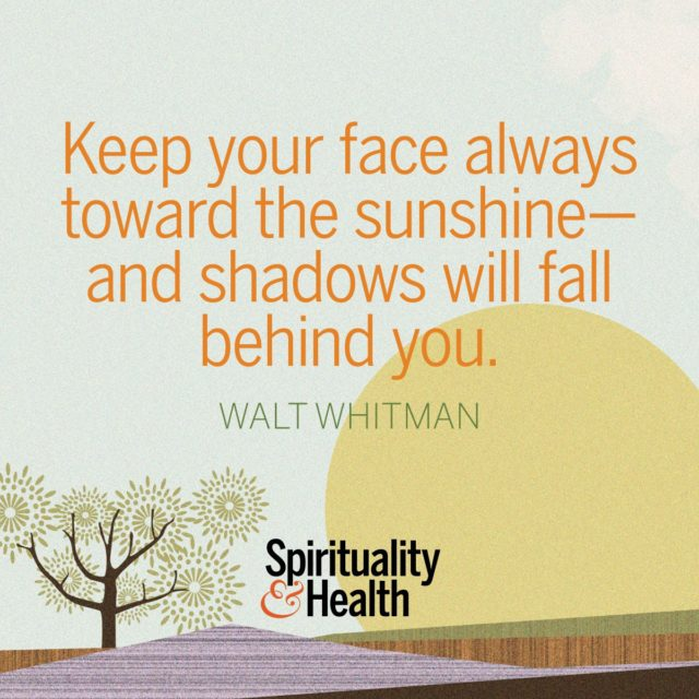 Walt Whitman on embracing optimism.