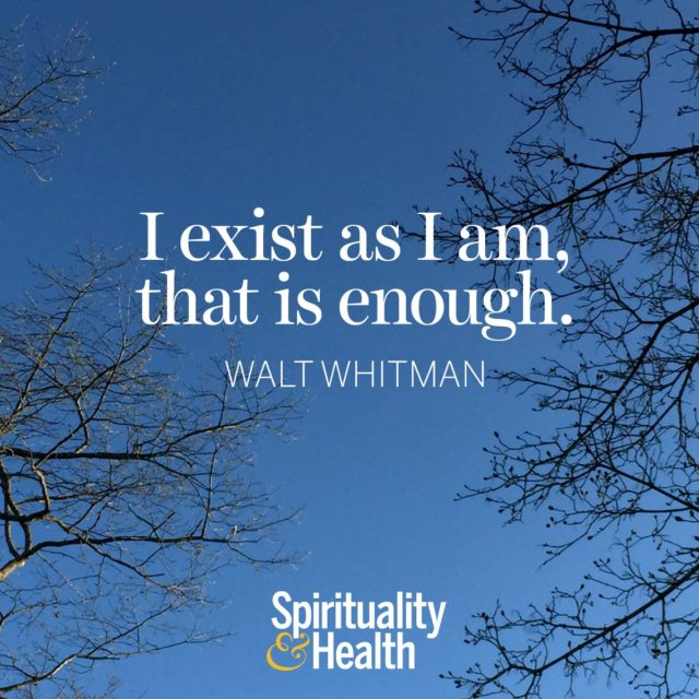 Walt Whitman on being enough