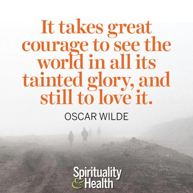 Oscar Wilde on loving this planet