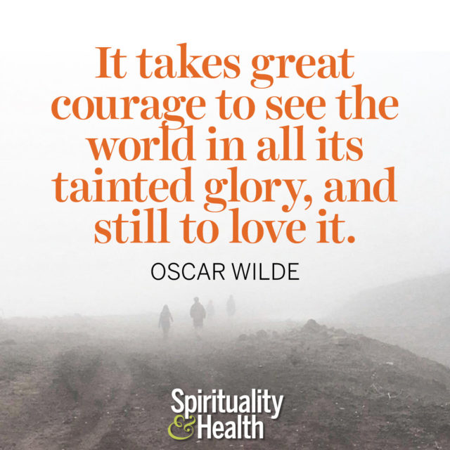 Oscar Wilde on loving this planet