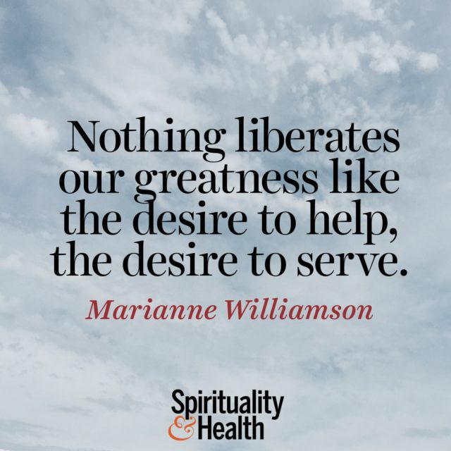 Marianne Williamson on service