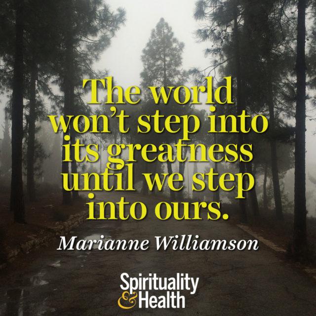 Marianne Williamson on Greatness