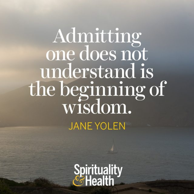 Jane Yolen on wisdom