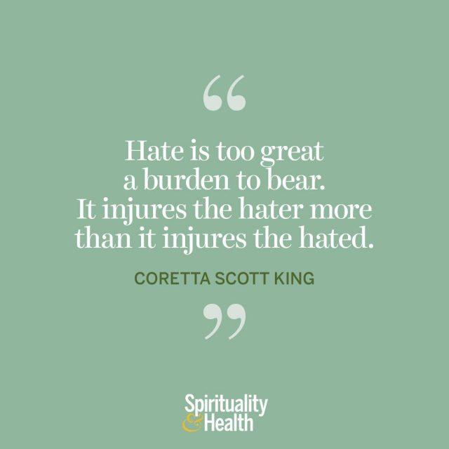 Coretta Scott King on hate.