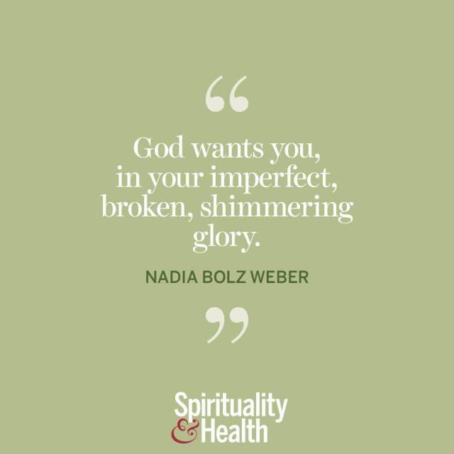 Nadia Bolz Weber on God and you.