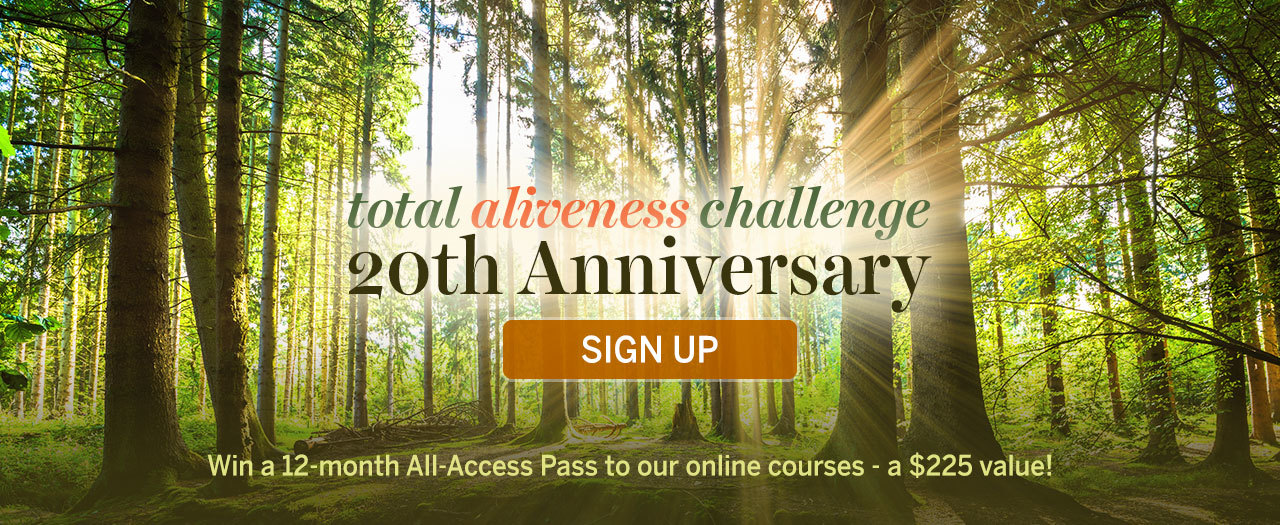 Total Aliveness Challenge - Sign Up & Enter To Win