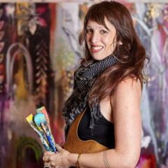 Flora Bowley in her art studio