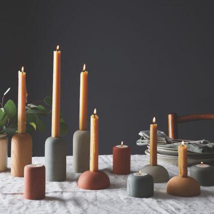 2019 0204 Domenic Fiorello Studio Concrete Wood Grain Candleholders 1X1 Rocky Luten 050